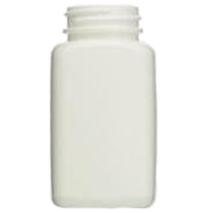 CUSTOM PACKAGED: 4oz HDPE oblong wide mouth bottle. 480/case [50-11205]
