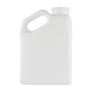 1 Gallon HDPE Oblong F-Style Slant Handle Wide Mouth Jug 50/Case [50-1130] MAIN