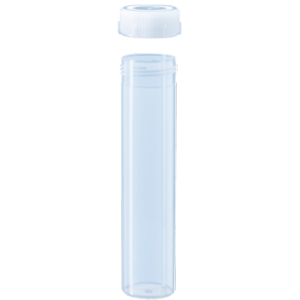 60mL Polypropylene Freestanding Centrifuge Tubes with Natural Screw Caps. Case of 250 [50-6007]