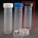 50mL Digestion Vessel, Flat Bottom, Graduated, w. GREY Cap, PP-CO,  500/Pkg [50-8004] THUMBNAIL