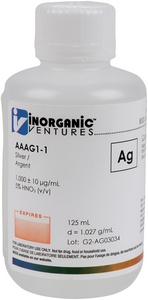 1,000 ppm Ag in HNO3 Acid, 125mL [30-AAAG1-1]