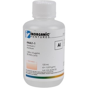 1,000 ppm Al in HNO3 Acid [30-AAAL1] LARGE