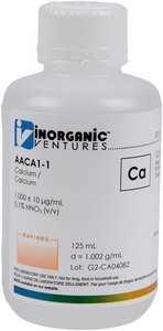 1,000 ppm Ca in HNO3 Acid, 125mL [30-AACA1-1]