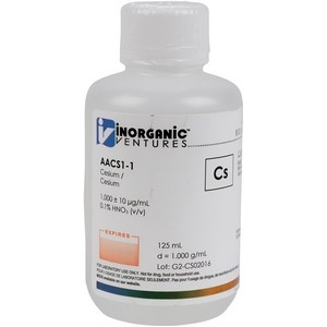 1,000 ppm Cs in HNO3 Acid [30-AACS1] LARGE