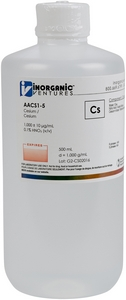 1,000 ppm Cs in HNO3 Acid, 500mL [30-AACS1-5]