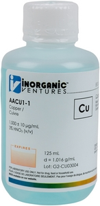 1,000 ppm Cu in HNO3 Acid, 125mL [30-AACU1-1]