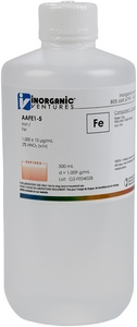 1,000 ppm Fe in HNO3 Acid, 500mL [30-AAFE1-5]