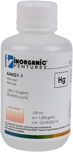 1,000 ppm Hg in HNO3 Acid, 125mL [30-AAHG1-1]