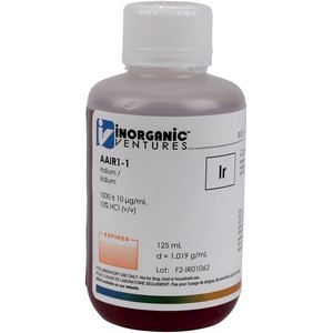 1,000 ppm Ir in HCl [30-AAIR1] LARGE