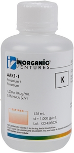 1,000 ppm K in HNO3 Acid, 125mL [30-AAK1-1]