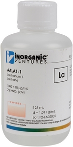 1,000 ppm La in HNO3 Acid, 125mL [30-AALA1-1]