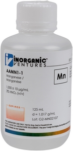 1,000 ppm Mn in HNO3 Acid, 125mL [30-AAMN1-1]