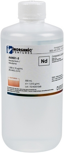 1,000 ppm Nd in HNO3 Acid, 500mL [30-AAND1-5]