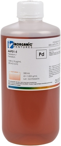 1,000 ppm Pd in HCl, 500mL [30-AAPD1-5]