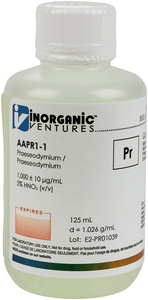 1,000 ppm Pr in HNO3 Acid, 125mL [30-AAPR1-1]