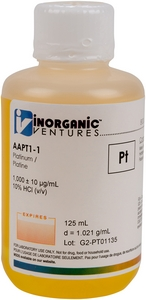 1,000 ppm Pt in HCl, 125mL [30-AAPT1-1]