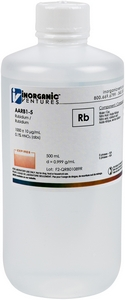 1,000 ppm Rb in HNO3 Acid, 500mL [30-AARB1-5] MAIN