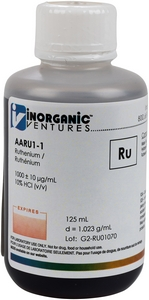 1,000 ppm Ru in HCl, 125mL [30-AARU1-1]