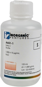 1,000 ppm S in Water, 125mL [30-AAS1-1]