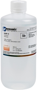 1,000 ppm Sby in HNO3 Acid / Tartaric Acid, 500mL [30-AASB1-5]
