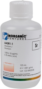 1,000 ppm Sr in HNO3 Acid, 125mL [30-AASR1-1]