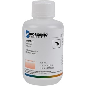 1,000 ppm Tb in HNO3 Acid [30-AATB1] LARGE