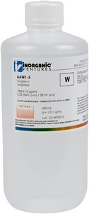 1,000 ppm W in HNO3 Acid & HCl, 500mL [30-AAW1-5]