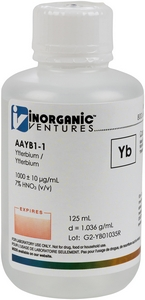 1,000 ppm Yb in HNO3 Acid, 125mL [30-AAYB1-1]