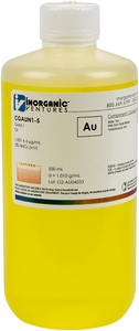 1,000 µg/mL Gold, 500mL [30-CGAUN1-5]