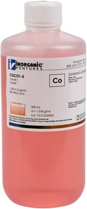 1,000 µg/mL Cobalt, 500mL [30-CGCO1-5]