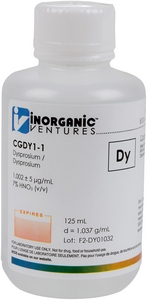 1,000 µg/mL Dysprosium, 125mL [30-CGDY1-1] MAIN