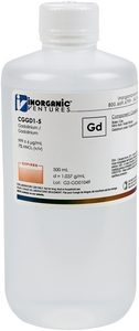 1,000 µg/mL Gadolinium, 500mL [30-CGGD1-5]