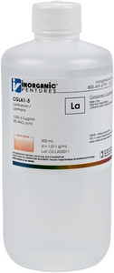 1,000 µg/mL Lanthanum, 500mL [30-CGLA1-5]