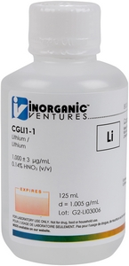 1,000 µg/mL Lithium, 125mL [30-CGLI1-1]