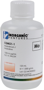 1,000 µg/mL Molybdenum, 125mL [30-CGMO1-1]