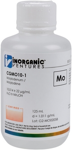 10,000 µg/mL Molybdenum, 125mL [30-CGMO10-1]