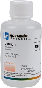 10,000 µg/mL Rhenium, 125mL [30-CGRE10-1]