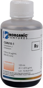 10,000 µg/mL Ruthenium, 125mL [30-CGRU10-1]