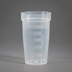 100 mL PP-H Flat bottom, Graduated, Titration Sample Beakers-Case of 450 [50-13009] LARGE
