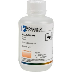 10 µg/mL Silver in dilute Nitric Acid, 125mL [30-MSAG-10PPM]