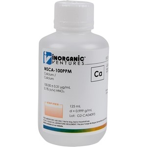 100 µg/mL Calcium in dilute Nitric Acid, 125mL [30-MSCA-100PPM]