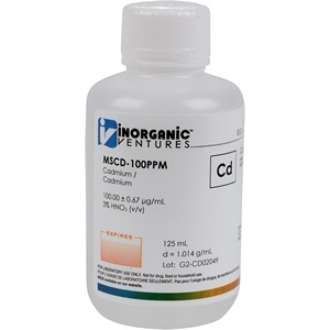 100 µg/mL Cadmium in dilute Nitric Acid, 125mL [30-MSCD-100PPM]