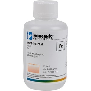 100 µg/mL Iron in dilute Nitric Acid, 125mL [30-MSFE-100PPM]