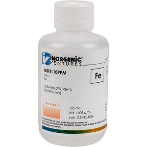 10 µg/mL Iron in dilute Nitric Acid, 125mL [30-MSFE-10PPM]