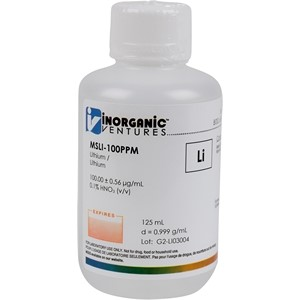 100 µg/mL Lithium (Isotopically Enriched) in dilute Nitric Acid, 125mL [30-MS6LI-100PPM]