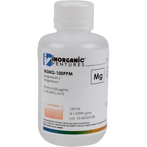 100 µg/mL Magnesium in dilute Nitric Acid, 125mL [30-MSMG-100PPM]