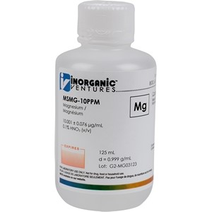10 µg/mL Magnesium in dilute Nitric Acid, 125mL [30-MSMG-10PPM]