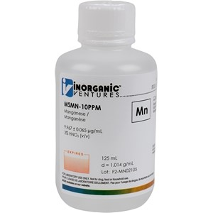 10 µg/mL Manganese in dilute Nitric Acid, 125mL [30-MSMN-10PPM]