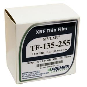 "XRF Thin Film: Mylar™, 3.5µ (0.14 mil), 63.5mm (2.5"") 500 Circles [40-TF-135-255]"