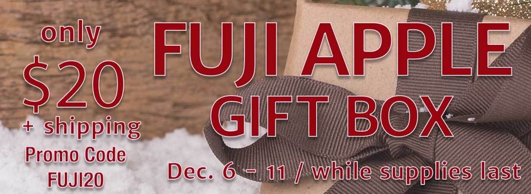 $20 Fuji Apples gift boxes December 6 through 11